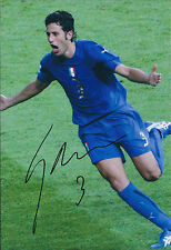 Fabio GROSSO Signed ITALY World Cup Winner 12x8 Photo AFTAL COA Autograph RARE