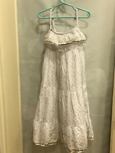 Justice Junior White Summer dress: Size 5