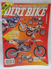 Dirt Bike Magazine May 2003 Desert Racing Six 450's New Age Off Road Honda KTM