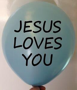 JESUS LOVES YOU BALLOONS - Religious Church Balloon Party Decoration Celebration
