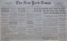 9-1930 September 8 ARGENTINA REVOLT SWEEPS NATION MARTIAL LAW CURBS BUENOS AIRES
