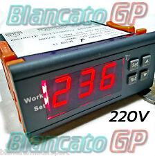 TERMOSTATO DIGITALE 999°C 220V PROGRAMMABILE CON TERMOCOPPIA TIPO K temperatura