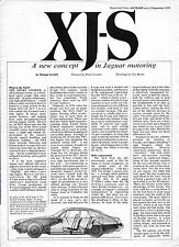 1975 Jaguar XJ-S launch article-brochure: reprinted from Autocar (8 pages)
