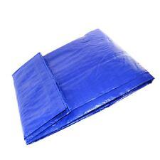 1.7 X 2.6M Blue Tarpaulin Cover Sheet Canvas Groundsheet Waterproof Tarp