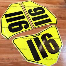 trackday or race numberplate set fits 2003-2008 suzuki sv650 2004 gsxr 600 750