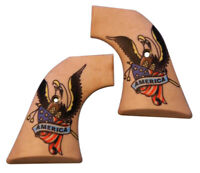 American Tattoo Custom Ruger Revolver Grips Vaquero Blackhawk Wrangler