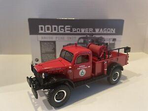 first gear 1/30 fire truck 1949 Dodge Power Wagon #19-2520 MA Division Brush Uni