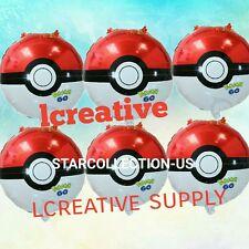 6 Pc Pokemon Pokeball Birthday Party Balloons FREE SHIPPING