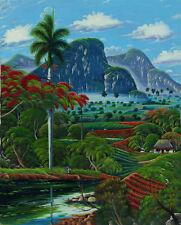 "CUBAN ART #058 ** DOUGLAS ** CONECCION NATURAL 40X32"" SIGNED ON CANVAS"