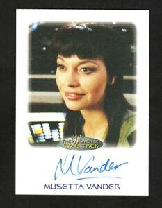 THE WOMEN OF STAR TREK AUTOGRAPH CARD MUSETTA VANDER