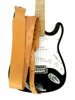 LEDER GITARRENGURT LEATHER GUITAR STRAP 7 cm BREITE BRAUN