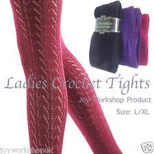 Ladies crochet sweater tights women's patterned winter Pelerine warm size L/XL