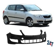 NEW SKODA FABIA 2010-2015 FRONT BUMPER WITH FOG LIGHT HOLES EURO MODELS