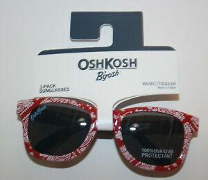 New OshKosh Girls Sunglasses1 2 yr 0-24m NWT 100% UVA-UVB Classic Bandana Red