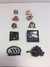 Lot Of 10 Collectible Mixed Hat Pins Pinbacks