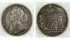 GB. Oliver Cromwell memorial Medal. In silver by Dassier, circa 1731, 38mm, EF