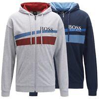 Hugo Boss Men's Cotton Sweater Zip Up Hoodie Sweatshirt Track Jacket