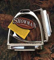 "4 3/4"" Stainless Steel Irons Stirrups Stirrup w/ Pads English Saddle"