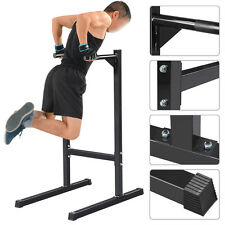 500lbs Dipping station Dip Stand Pull Push Up Bar Fitness Exercise Workout Gym