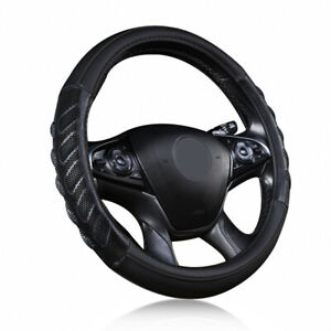 Universal Car Steering Wheel Cover Leather Black Sport Massage Auto Protectors