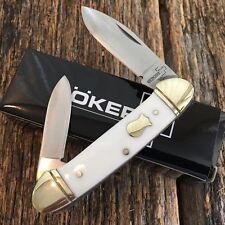 """BOKER PLUS 3 5/8"""" Canoe Pocket Knife WHITE Handles NEW Vintage Style BO235W"""