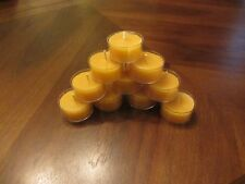 Tealight Candles in Bulk of 40: 100% Pure Beeswax