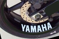 4x YAMAHA R1 R6 MT FJR FZ YZ YFZ R1M DT F FZ6 DTX RS YZ Wheel Rim Sticker Decal