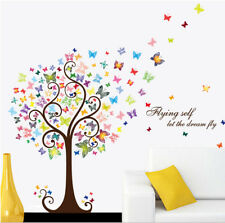 USA Removable Vinyl Butterfly Tree Wall Sticker Art Decal Mural Home Room Decor