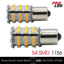 2X 1156 Amber Yellow LED light bulbs Turn Signal Blinker Corner 54-SMD