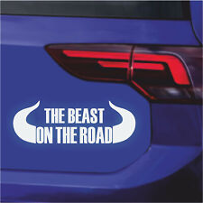 Auto Aufkleber The beast on the road Monster tuning sticker