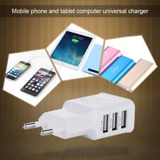 NEWEST Universal 5V 2A 220V USB 3 Port Quick Charger Adapter For Most Cellphones