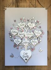 personalised handmade Family tree wall plaque Mothers Day  gift keepsake