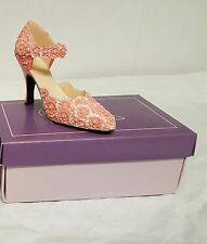 The Leonardo Collection  If the Shoe Fits  Peach Shoe Figurine Collectors Item