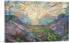 ARTCANVAS The Sun 1911 Canvas Art Print by Edvard Munch