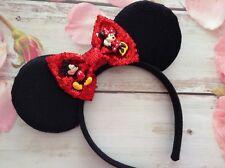 Minnie Mouse & Mickey Mouse Ears Headband-Disney World- Disneyland