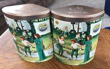 Set Of 2 1970's Girl Scouts Promise Series #2 Collectible Tin Ashdon Farms 2005