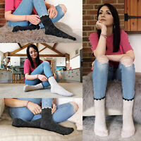 Ladies Thick Quarter Ankle Low Cut Warm Alpaca Wool Blend Hiking Boot Socks LABS