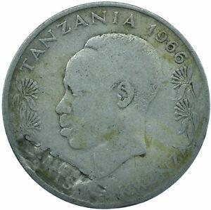 COIN / TANZANIA / 1 SHILINGI MOJA 1966 BEAUTIFUL COLLECTIBLE   #WT29824