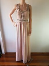 NWT TOPSHOP Ladies Baby Pink Embellished Lined Maxi Dress Size: 10 RRP: $170