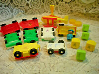 Vintage Fisher Price Little People Play Family Airport  #996 PARTS 15 pieces