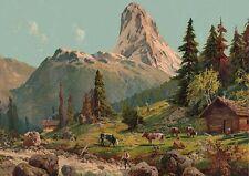 Matterhorn suisse Alpes chromofaksimile sur papier papier kxz 12 paysage