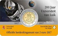 """Coincard 2 euros BELGIQUE 2017 Flamand - """"200 ans de l'Université de Liège"""""""