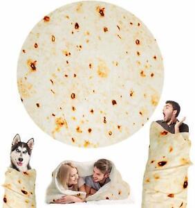 Mexican Throw Burrito Blanket 3D Corn Tortilla Flannel Blanket Bedding Pencake