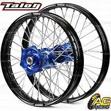 """Talon Evo Wheel Set Black Blue 21"""" Front 18"""" Rear For Husqvarna TE 300 2016-2017"""