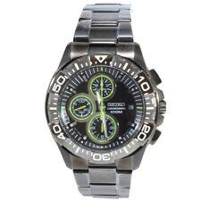 Seiko Criteria SND757 P1 Gunmetal Black Dial Chronograph Men's Quartz Watrch