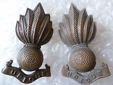 Badge- VINTAGE Royal Artillery Officers Collar Badges (BRONZE, Org ) PAIR