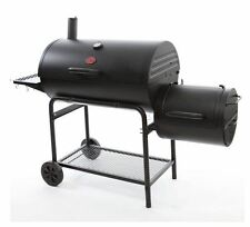 NEW Black BBQ Grill Smoker Barbecue Charcoal Wood Camping Outdoor Cooking Cook