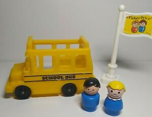 Fisher price school bus and two figures 1988
