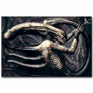 """Alien Movie Abstract Film Poster HD Canvas Art Print 12"""" 16"""" 20"""" 24"""" Sizes"""