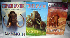Mammoth [with] Longtusk [with] Icebones by Stephen Baxter - Signed 1st/1st HC/DJ
